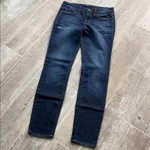 Else Straight Leg Mid Rise Dark Wash Ankle Jeans